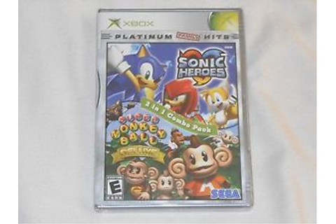 NEW Sonic Heroes / Super Monkey Ball Deluxe XBox Combo ...
