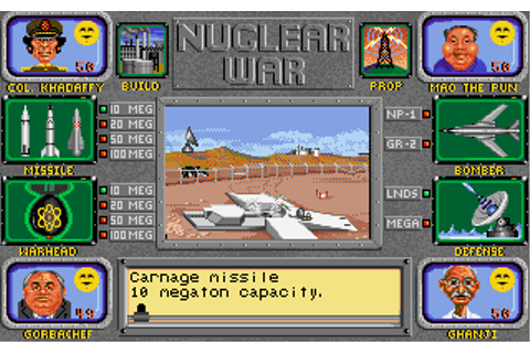 Nuclear War | Old DOS Games | Download for Free or play on ...