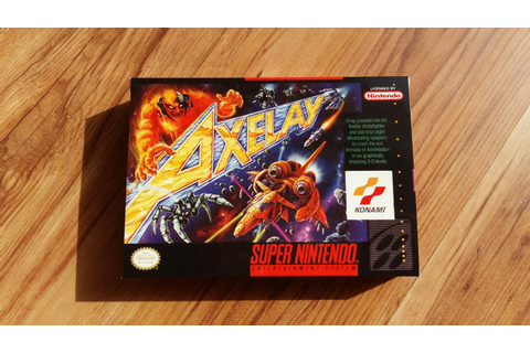 Axelay Super Nintendo SNES box only no game no by GameHeaven