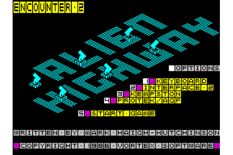 Alien Highway (1986) by Vortex ZX Spectrum game