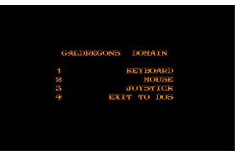 Galdregon's Domain Download (1989 Role playing Game)