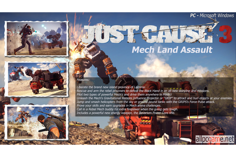 Just Cause 3: Mech Land Assault - PC Cover & System ...