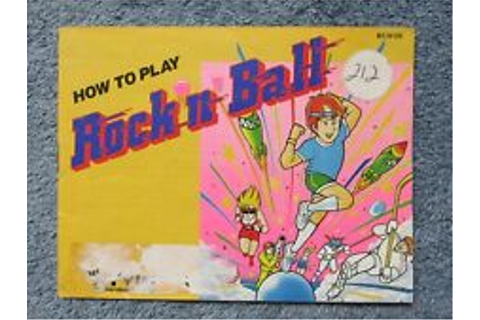 """ Rock'n' Ball "" manual - no game .... NES Nintendo 