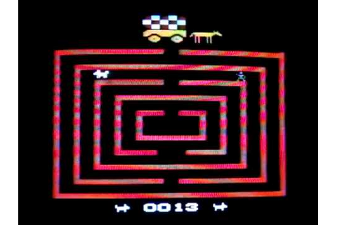 Chase The Chuckwagon Atari 2600 Video Game - YouTube