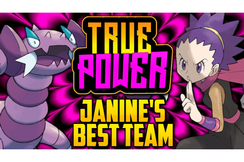 WHAT IS JANINE'S BEST POSSIBLE TEAM!? Gym Leader Janine's ...