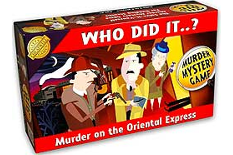 Who Did It ? board game - Murder on the Orient Express