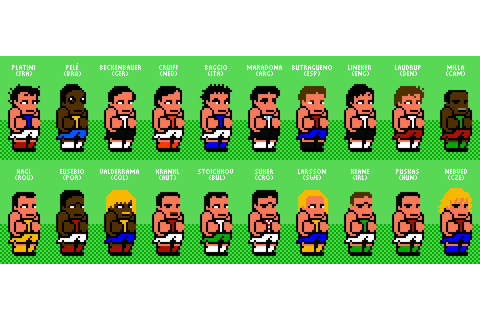 Soccer legends - Nintendo World Cup style by Stjurgeon on ...