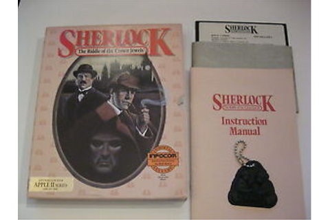 Sherlock The Riddle of the Crown Jewels Apple II 2 Game ...