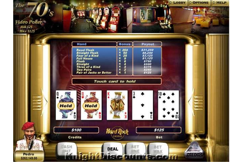HARD ROCK CASINO Poker Cards Black Jack PC GAME New JC