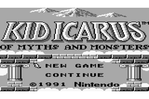 Game Boy | Kid Icarus: Of Myths and Monsters (Gameplay ...