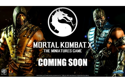 Mortal Kombat X and Street Fighter Miniatures Game