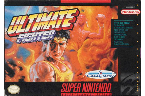 Ultimate Fighter SNES Super Nintendo
