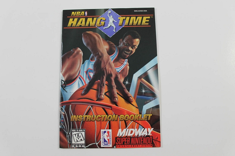 Manual - Nba Hang Time - Snes Super Nintendo