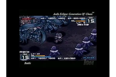 Aedis Eclipse ~Generation of Chaos~ Sony PSP - YouTube