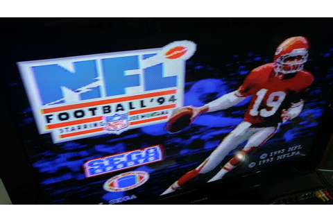 NFL Football 94 Starring Joe Montana Sega Genesis video ...