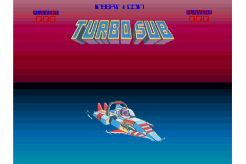 Turbo Sub, Arcade Video game by Ent. Sciences (1986)