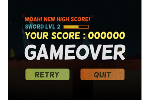 Game Over Score Lvl by Vincent Iadevaia - Dribbble