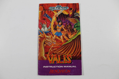 Manual - Valis The Fantasm Soldier - Sega Genesis