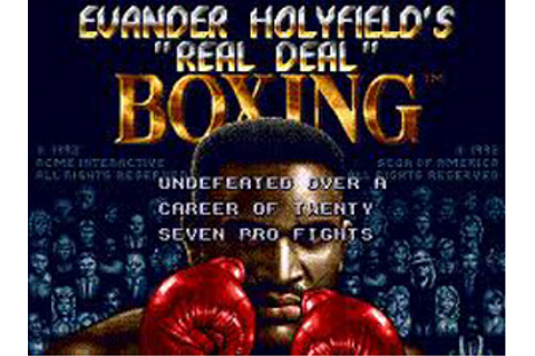 Evander Holyfields Real Deal Boxing | Game Reviews ...