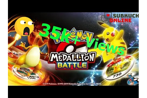 Pokémon Medallion Battle Game - YouTube