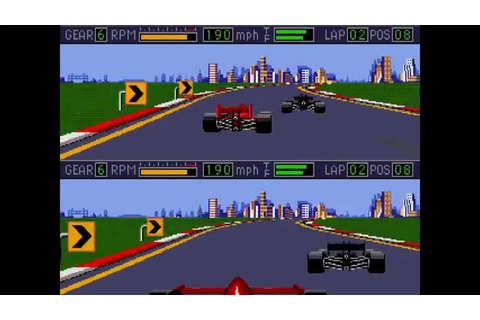 Mario Andretti Racing ... (Sega Genesis) - YouTube