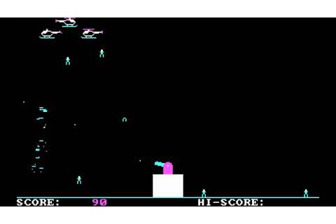Paratrooper 1982 DOS gameplay HD - YouTube