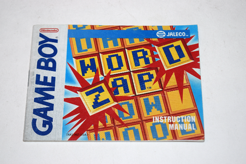 Wordzap Nintendo Game Boy Video Game Manual Only | eBay
