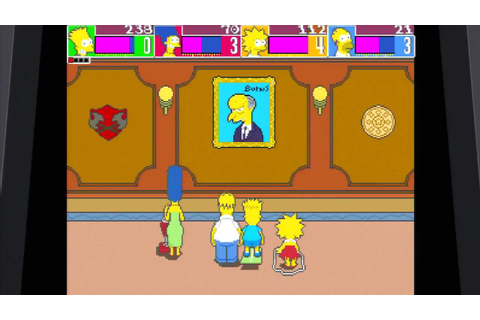 The Simpsons Arcade Game, PS3 Full Playthrough - YouTube