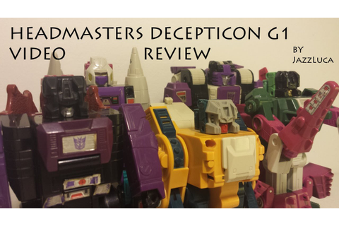 Headmaster Decepticon Transformers G1 - YouTube