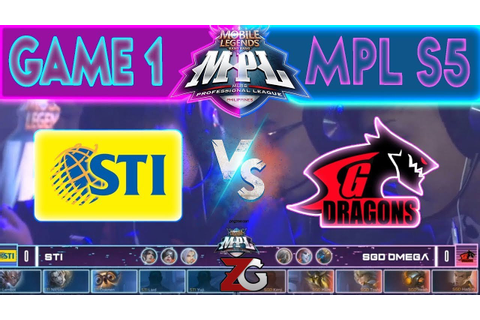 Game 1 STI vs SGD Omega MPL Season 5 Week 2 Day 2 - YouTube