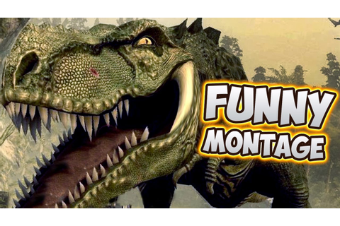 Dinosaurs & Man - Jurassic The Hunted Funny Montage | Doovi