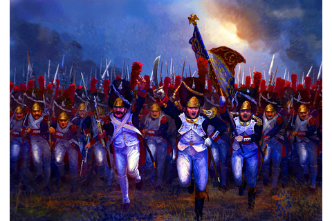 The last charge of Napoleon's Old Guard Grenadiers at ...