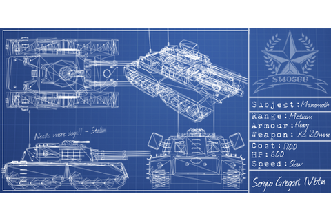Mammoth Tank Blueprint image - Red Alert: A Path Beyond ...