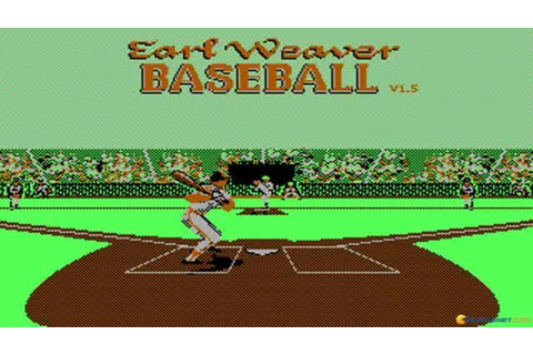 Earl Weaver Baseball gameplay (PC Game, 1987) - YouTube