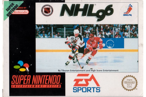 NHL 96 (1995) DOS box cover art - MobyGames