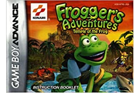 Frogger's Adventures - Temple of the Frog GBA Instruction ...