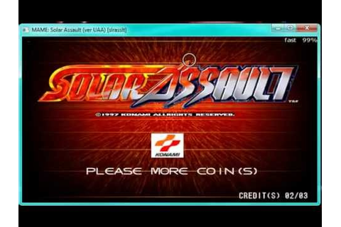 MAME solar assault hd stage 1-2 gameplay mame 147 - YouTube