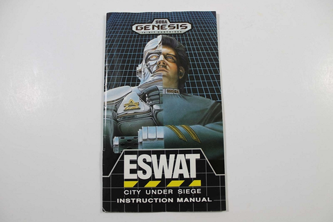 Manual - Eswat City Under Siege - Sega Genesis