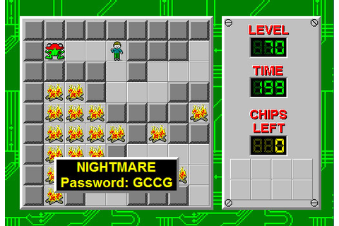 Chip's Challenge Level Passwords | Game Novice