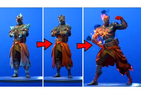 NEW SKIN FIRE KING LEAKED DANCE!! ALL STAGES IN GAME ...