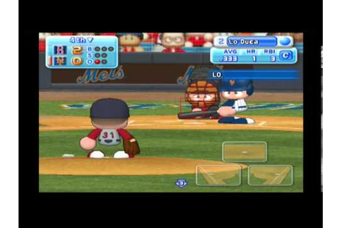MLB Power Pros (Wii) World Series Game #3 Red Sox @ Mets ...