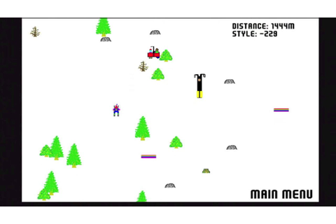 Flash Game Friday - Ski Free - It's an Old Game - YouTube