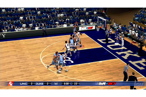 College Hoops 2K7 Xbox 360 Gameplay - Carolina at Duke ...