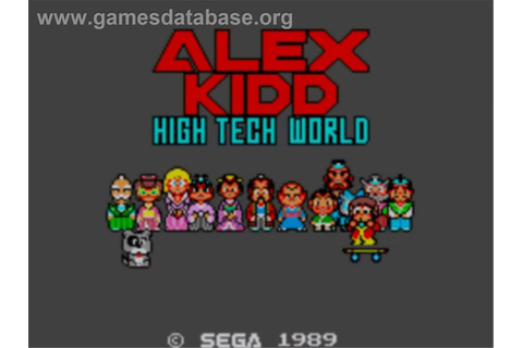 Alex Kidd: High-Tech World - Sega Master System - Games ...
