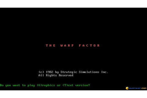Warp Factor, The gameplay (PC Game, 1982) - YouTube