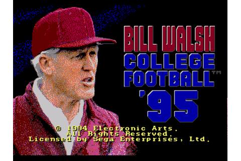 Bill Walsh College Football 95 Screenshots | GameFabrique