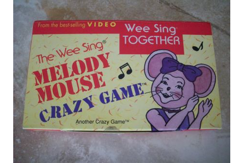 The Wee Sing Melody Mouse Crazy Game - Puzzle, Just Go Vintage