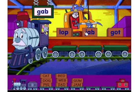Reader Rabbit's Reading 1: Word Train Game, Level 3 - YouTube
