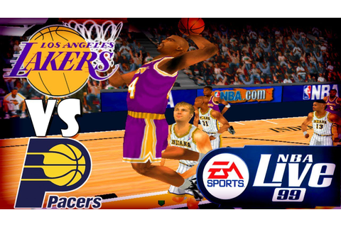 Nba Live 99 Los Angeles Lakers-Indiana Pacers Game#20 ...