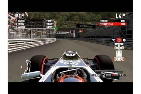 F1 2011 (Game) Monaco Expert Career Race - YouTube